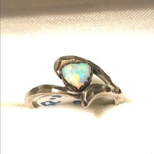Stamped Vintage Sterling Opal Ring